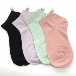 Littledesire Imitation Pearl Women Cotton Socks - 4 Pairs