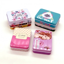 Cute Metal Mini Tin Storage Box Pack of 4 Random Color