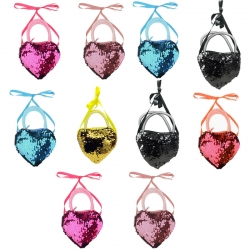 Birthday Party Return Gifts Sequins Cross-body Handbag 10 Pcs Random color