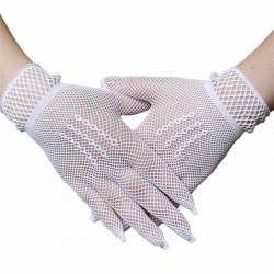 Stylish Fishnet Lace Full Finger Net Gloves
