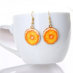 Acrylic Lemon Earrings Fruit Charm Dangle