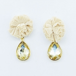 Cloth Flower Fashion Earring