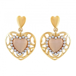 Heart Shape Crystal Rhinestone Classic Earrings