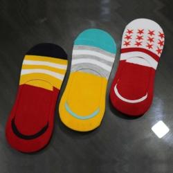 Women Cotton Loafer Type Socks - 3 Pairs