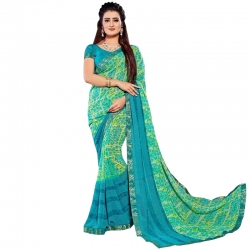 Littledesire Georgette Printed Weightless Saree with Blouse Piece