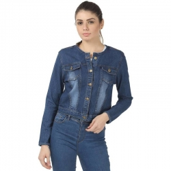 Littledesire Blue Washed Denim Women Jacket