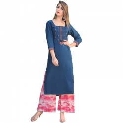 Littledesire Embroidery work Kurta with Palazzo