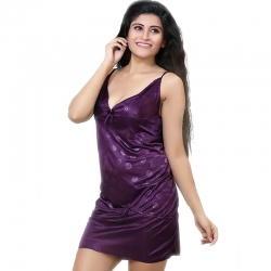 Littledesire V-Neck Sleeveless Satin Night Dress