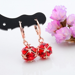 Littledesire Beautiful Ball CZ Hoop Earrings