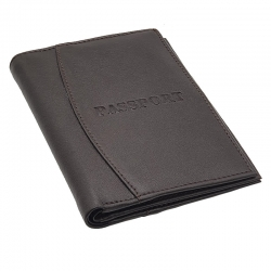 Littledesire Black & Brown PU Leather Indian Travel Passport Cover
