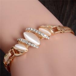 Littledesire Golden Color Cat Eye Stone Unique Bracelet