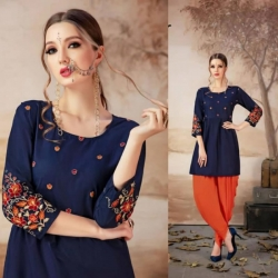 Littledesire Embroidered Work Short Kurti Top