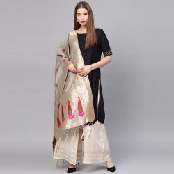 Littledesire Banarasi Silk Zari Woven Dupatta