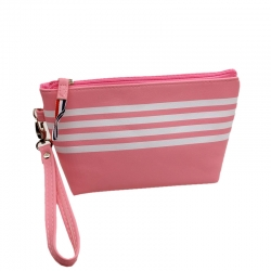Littledesire Pink & Grey Travel Pouch Zipper Cosmetic Bag