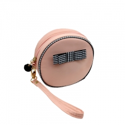 Littledesire Cute Round Shape Cosmetic Zipper Mini Bag