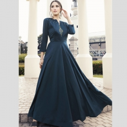 Littledesire Latest Designer Embroidered Work Gown