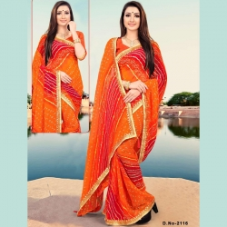 Littledesire Bandhani Printed Saree With Blouse