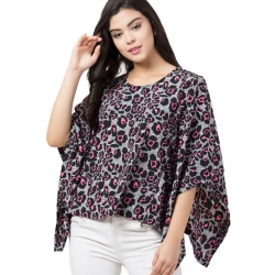 Littledesire Printed Boat Neck Kaftan Top
