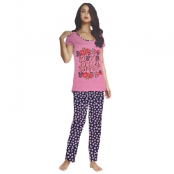 Printed Top & Pajama Cotton Night Suit