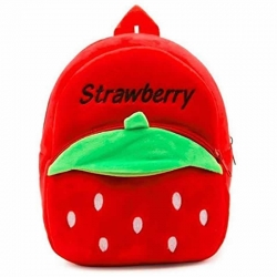 Premium Soft Red Strawberry Velvet Plush Bag for Kids
