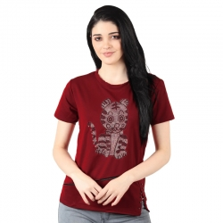 Littledesire Patchwork Short Sleeves Zipper T-shirt Top