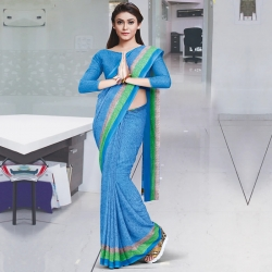 Abstract Print Georgette Saree With Blouse