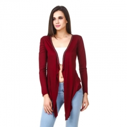 Viscose Casual Full Sleeve Shrug