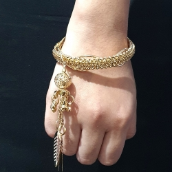 Golden Stone Latkan Bangles Set