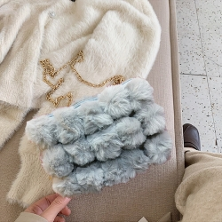 Design Fur Ball Soft Fluffy Sling Bag