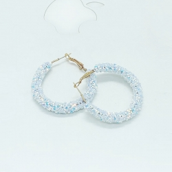 Shiny Crystal Hollow Party Wear Earrings