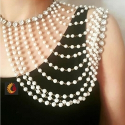 White Pearls Designer Trendy Gold Plated Broach