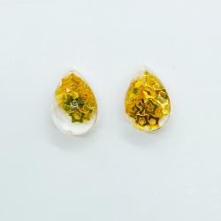 Water Drop Sequins Glass Stud Earrings