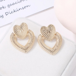 Cute Lovely Heart Stud Korean Earrings