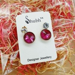 Littledesire Round Crystal Earrings