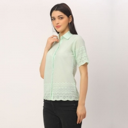 Down Collar Short Sleeve Shirt
