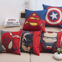 Digital Cartoon Printed Decorative Throw Pillow Covers 16 x 16 inch Pack of 5