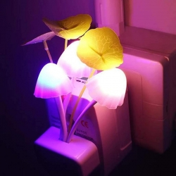 Mushroom Flowers Changing Magic Led Light Lamp