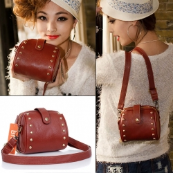 Artificial Leather Rivet Bag