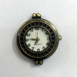 Antiqued Round Bronze Watch