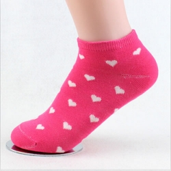 Pink Color Heart Shape Socks