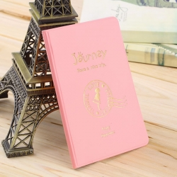 Travel Utility Simple Passport or ID Card Cover Holder ( Pink Journey )