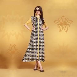 Littledesire A- Line Printed with Button Long Kurta