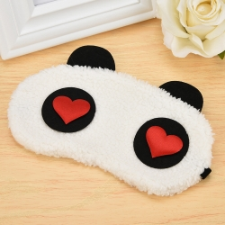 Littledesire Cute Panda Red Heart Sleeping Eye Mask