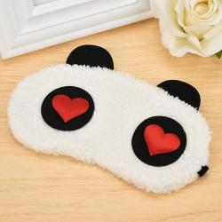 Littledesire Cute Panda Red Heart Sleeping Eye Mask