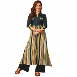 Littledesire Stylish Stripes Printed Knee Length Kurta