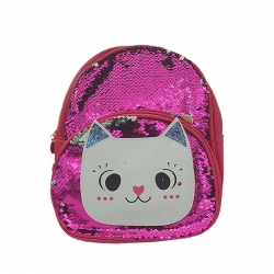 Cute Cartoon Travel Sequins Glitter Shoulder Backpack - 10 inch