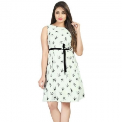 Littledesire Printed Sleeveless Short Dress