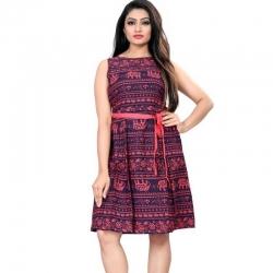 Littledesire Digital Printed Short Dress