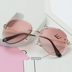 Littledesire Rimless Gradient Shades Cutting Lens Sunglasses