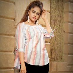 Littledesire Round Neck Printed Short Kurti Top